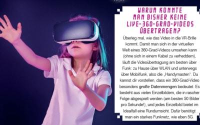 Mittels 5G und Virtual Reality Spannende Reisen in die Virtuelle Welt erleben